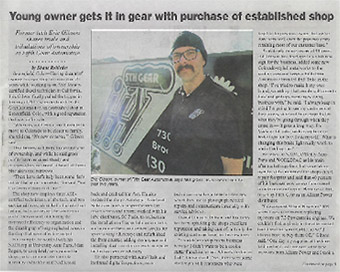 Newspaper article | 5th Gear Automotive