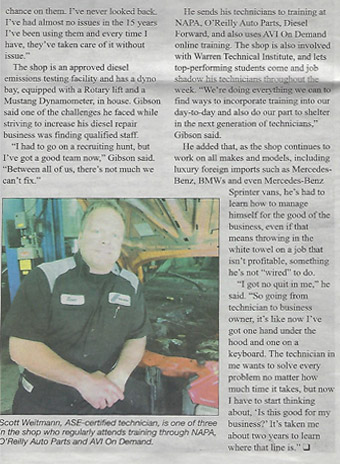 Newspaper article 2 | 5th Gear Automotive